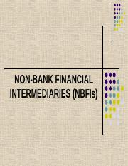 CHAPTER 12 - NON-BANK FINANCIAL INTERMEDIARIES.ppt