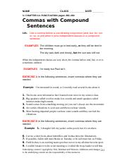 worksheet 225 commas with compound sentences2.doc