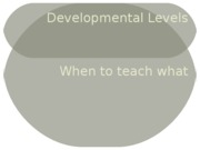 Developmental Levels
