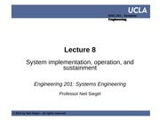 UCLA ENG 201 course  -- lecture 08 -- system implementation