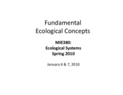 Fundamental Ecological Concepts
