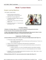 Week 07 Lecture Notes