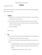 Informative Speech Outline-Rough Draft