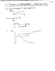 MATH 363 Response by Superposition Notes