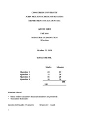 ACCO 310 Mid-term - F10 - Clean copy