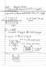 MAGNETIC FORCES NOTES