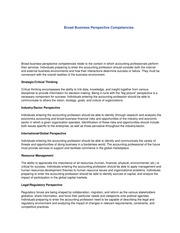 Acc 260 Broad Business Perspective Competencies