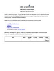PHE 665 Module Five Worksheet Assignment.docx