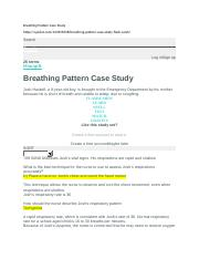 hesi case study oxygenation