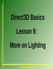 D9_MoreonLighting.ppt