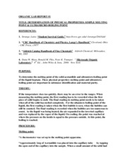 lab report determination of boiling point Determination of boiling points introduction: the boiling point of a compound is the temperature at which it changes from a liquid to a gas this is a physical property often used to identify substances or to check the purity of the compound.