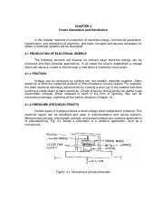 Chapter 4. Power Generation and Distribution