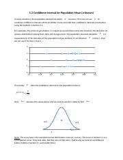 5.2 Confidence Interval for Population Mean (Sigma Known)(1).docx