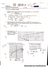 radical functions quiz