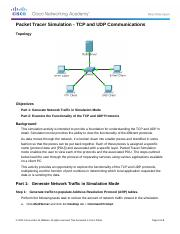 7.3.1.2 Packet Tracer Simulation - Exploration of TCP and UDP Instructions.docx