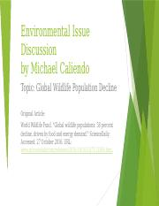 Environmental Issue Discussion