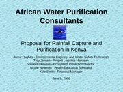 African Water Purification Consultants
