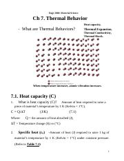 2060 Ch7 Thermal Behavior notes.doc