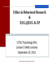 Lecture 3.Research Ethics, EEG, QEEG & EP.ppt