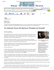 SIRS Discoverer ® _ Document _ As Internet Turns 40, Barriers Threaten Its Growth