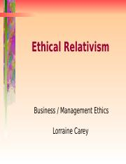 Ethical Relativism PPTs