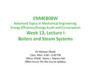 Week 13-Lec I--Boiler and Steam Systems-Apr 18-2011