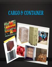 Lecture Cargo  Container