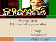 AfPak Policy