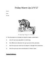 Friday Warm Up 3-9-18 Poetry and Expository.docx
