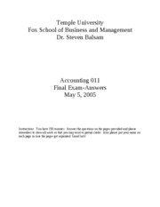 2005 Spring Accounting_011_Spring_2005___final_exam_Answers