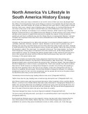 North America Vs Lifestyle In South America History Essay.docx