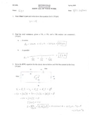 EE 220L Midterm Solutions