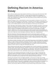 Healthy Eating Habits Essay Defining Racism In America Essaydocx  Defining Racism In America Essay  Race And Race Relations Have Been Aspects Of American Society Since The Essay Thesis Example also English Literature Essay Defining Racism In America Essaydocx  Defining Racism In America  Essays On Importance Of English
