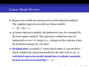 21 Linear Model Review