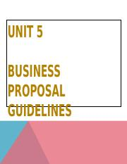 English Unit 5 Business Proposal Guideline 290816.ppt