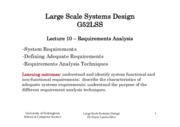 Large scale system design