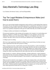 Top_Ten_Legal_Mistakes_Entrepreneurs_Make_and_how_to_avoid_them_Gary_Marshall_s_Technology_Law_Blog