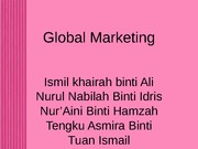 global marketing new