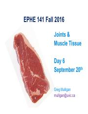 EPHE 141 Day 6 - Joints  Muscle Fall 2016