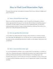 How to Find Good Dissertation Topic.docx
