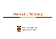 week 07 Market Efficiency