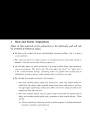 risk and safety regulation notes