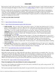 Astronomy 101_Lecture Notes on Asteroids