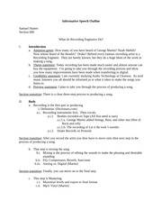 comm informative outline Comm 104003 comm 104010 comm 104092 instructor: informative speech 100 points process, concept or event a full-sentence outline and bibliography are required the use of an.