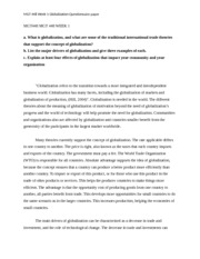 MGT448 MGT 448 WEEK 1 Globalization questionnaire paper