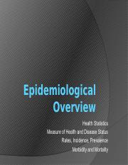 S1 L3 Epidemiological Overview