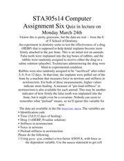 STA305s14 Computer Assignment Six 