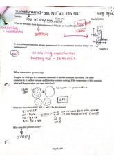 determining enthalpy experimentally worksheet march 5 2014 heats of reaction chem 112 mute l. Black Bedroom Furniture Sets. Home Design Ideas