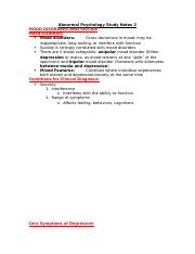 Abnormal Psychology Study Notes 2.docx