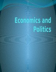 Chapter 12 - Economics and Politics-spring 14